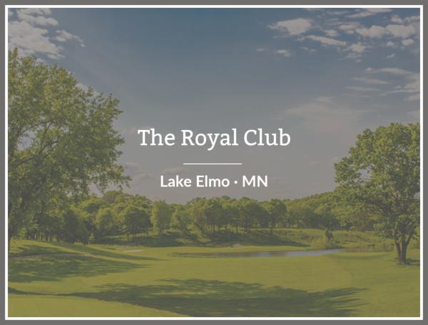 Custom Home Builders at the Royal Club Lake Elmo Minnesota