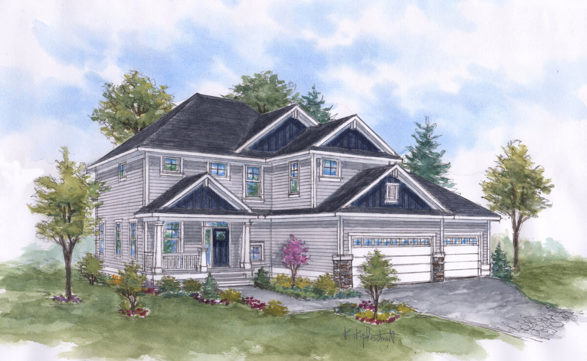 CRESTWOOD - Traditional 2 story floor plans