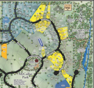 plat map for Villas at Fable Hill