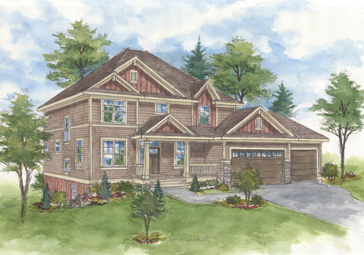MADELINE - Traditional 2 story floor plans