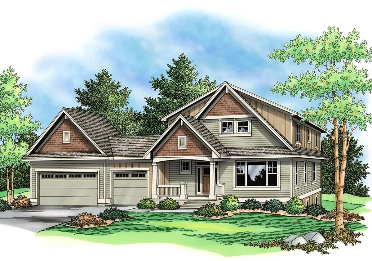 THE ROCKPORT - Traditional 2 story floor plans