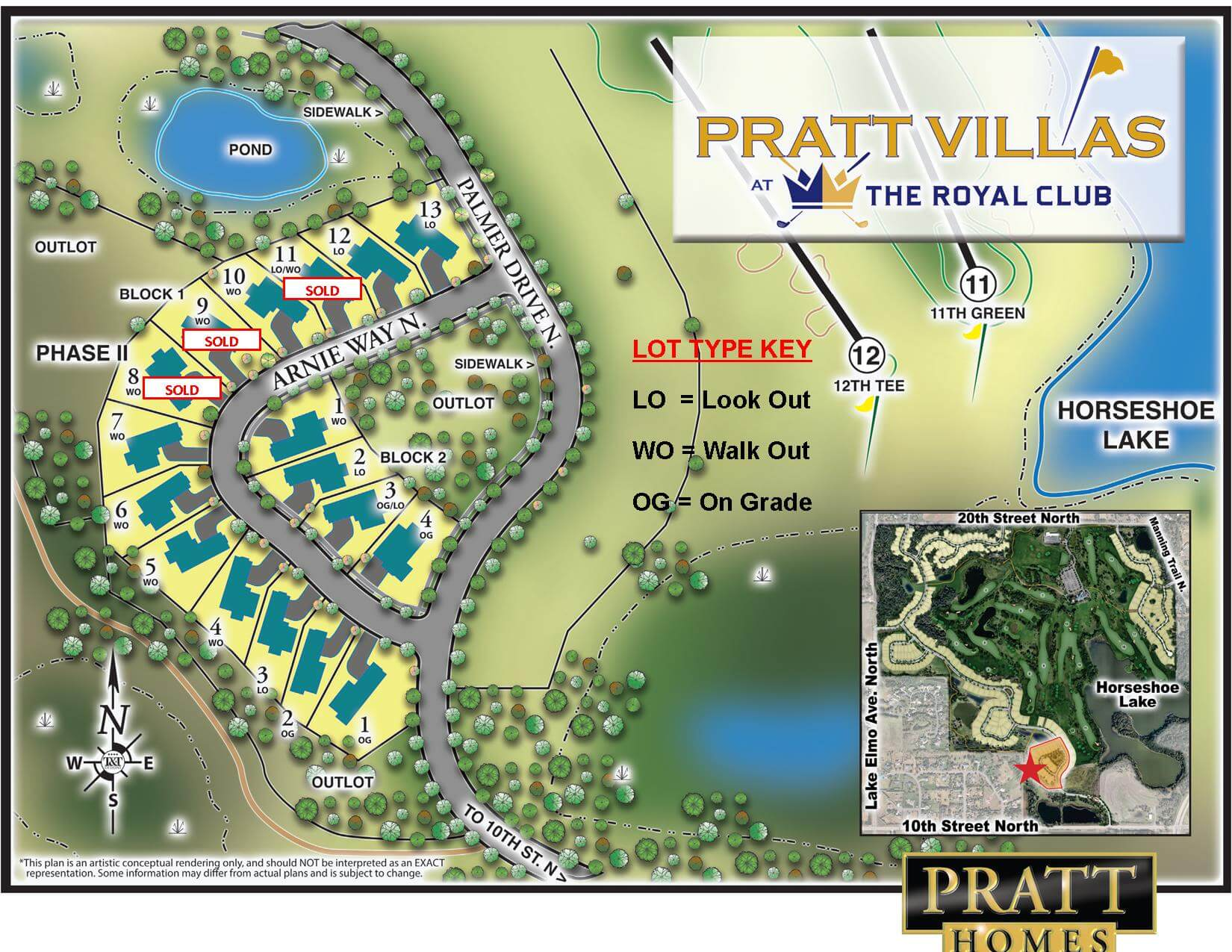 Available lots at The Royal Club Lake Elmo