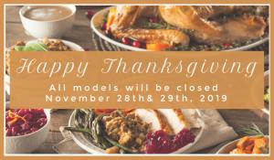 Pratt Homes Closed Thanksgiving