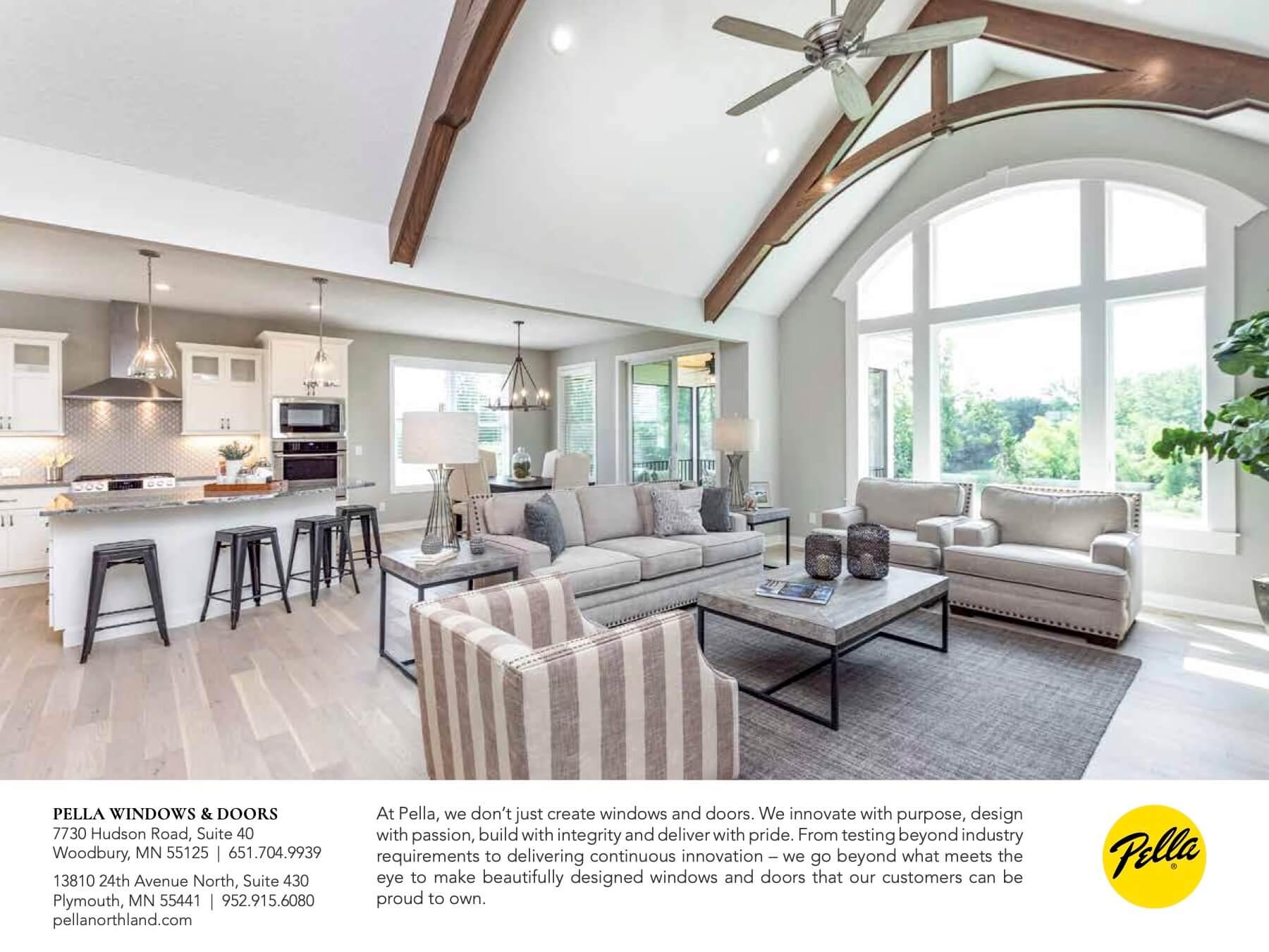 Pratt Partners with Pella Windows & Doors, Custom Home Builders Twin Cities
