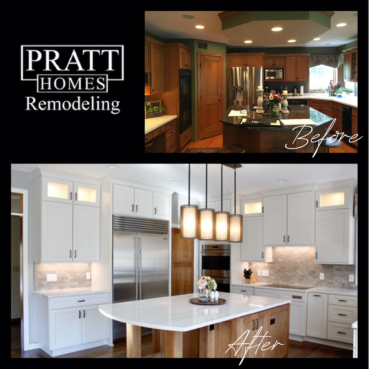 Before and After Kitchen Remodel in Afton MN