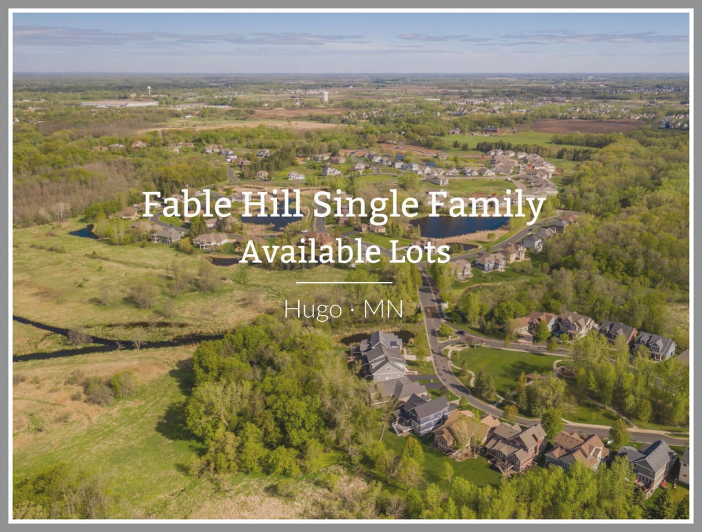 Available lots for sale in Fable Hill Hugo Minnesota