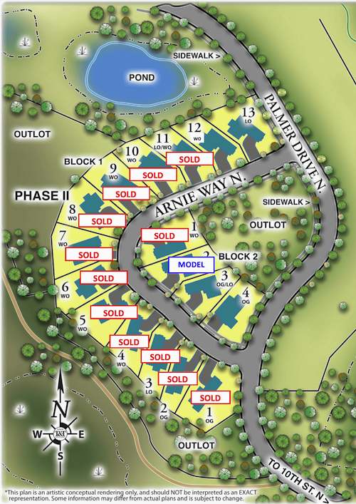 Available Lots at The Royal Club in Lake Elmo