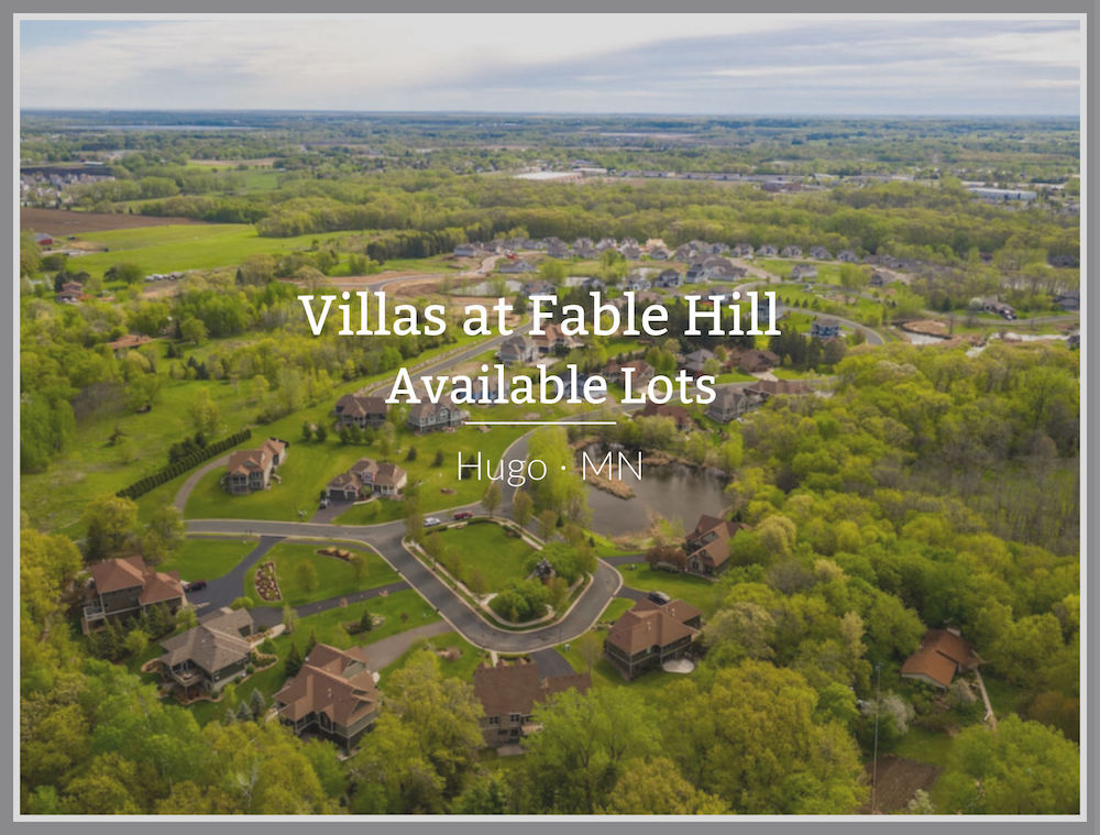 Available lots for sale in Fable Hill of Hugo Minnesota